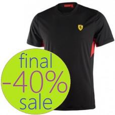 Мужская футболка Ferrari Technical для спорта, чёрная