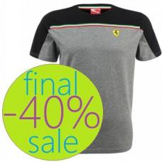 Мужская футболка Ferrari PUMA SF, серого цвета