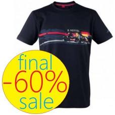 Мужская футболка S. Vettel Red Bull Racing синего цвета