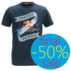 Фирменная мужская футболка гонщика команды Red Bull Racing - Себастьяна Феттеля