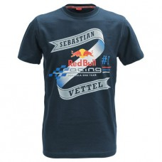 *Фирменная мужская футболка гонщика команды Red Bull Racing - Себастьяна Феттеля