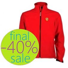 Красная мужская куртка Ferrari Softshell