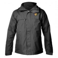 Чёрная мужская утепленная куртка Ferrari 3 в 1