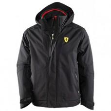 Мужская утепленная куртка Ferrari, чёрного цвета