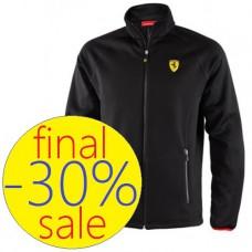 Чёрная мужская куртка Ferrari Softshell