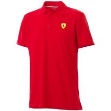 Классическое мужское поло Ferrari, красного цвета