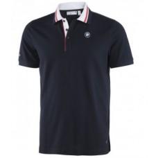 Мужская рубашка-поло BMW Motorsport Piquee синего цвета