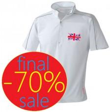 Спортивная мужская футболка с воротником стойкой McLaren Mersedes