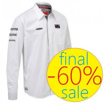Модная мужская рубашка MINI COOPER Team, белого цвета