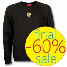 Мужская толстовка Mid Scudetto Ferrari черного цвета