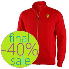 Красная мужская толстовка Ferrari на молнии