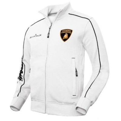 *Утепленная мужская толстовка на молнии, Lamborghini  белого цвета