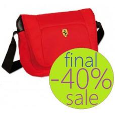 Красная сумка Ferrari, через плечо
