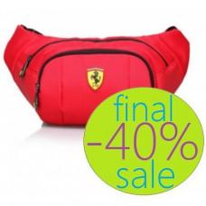 Сумка на пояс Ferrari  (красная)