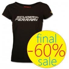 Женская футболка Scuderia Ferrari Silver, чёрная