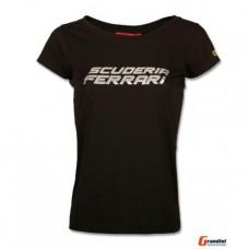 *Женская футболка Scuderia Ferrari Silver, чёрная