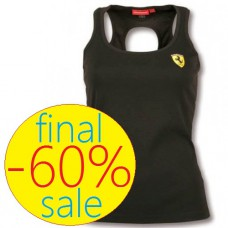 Женская спортивная майка Scudetto Hole Ferrari, чёрная