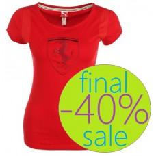 Женская футболка PUMA  Ferrari, красная