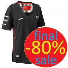 Женская футболка MINI COOPER Team с V-образным вырезом, черная
