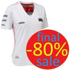 Женская футболка MINI COOPER Team с V-образным вырезом, белая