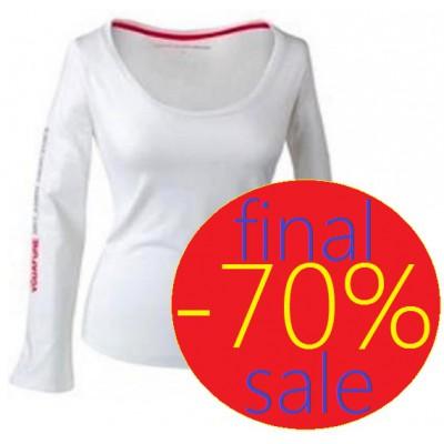 Белая женская футболка с длинным рукавом MacLaren Mercedes
