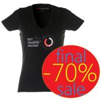 Женская футболка с V-образным вырезом и принтом