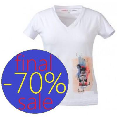 Женская футболка JENSON BUTTON белого цвета