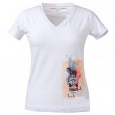 *Женская футболка JENSON BUTTON белого цвета