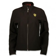 *Женская куртка ветровка Ferrari Softshell Scudetto, чёрная