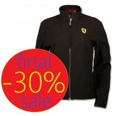 Женская куртка ветровка Ferrari Softshell Scudetto, чёрная