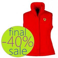 Спортивный женский жилет Ferrari, красный
