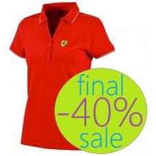 Женская  рубашка-поло Ferrari Classic, красная