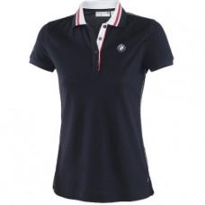 Женская рубашка-поло BMW Motorsport синего цвета