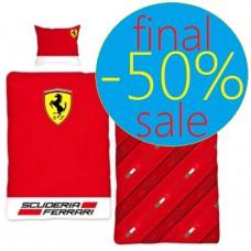 Постельное белье Ferrari односпальный комплект с большим логотипом
