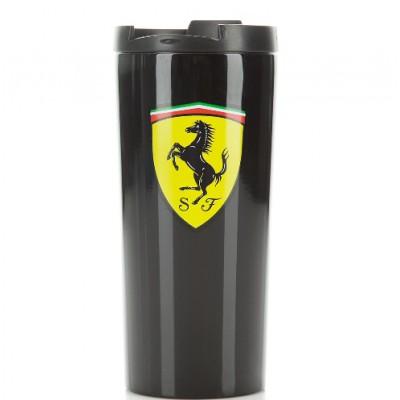 *Чёрная термокружка Ferrari