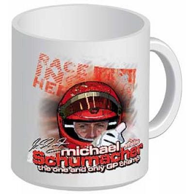 Белая кружка No.1 Michael Schumacher