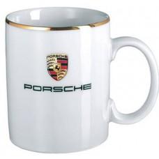 *Большая белая кружка Porsche Crest Design