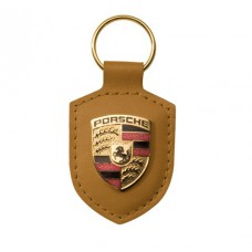 Брелок с авто-логотипом Porsche, коричневый