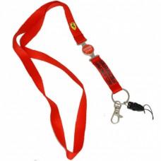 *Шнурок для бейджика / ключей / мобильного телефона от Ferrari, красный
