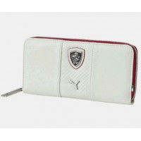 *Женский кошелек PUMA Ferrari на молнии, белый