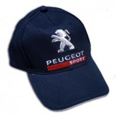 *Синяя спортивная бейсболка Peugeot Sport
