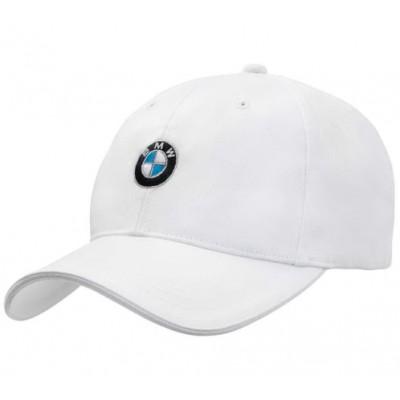 *Классическая белая бейсболка BMW