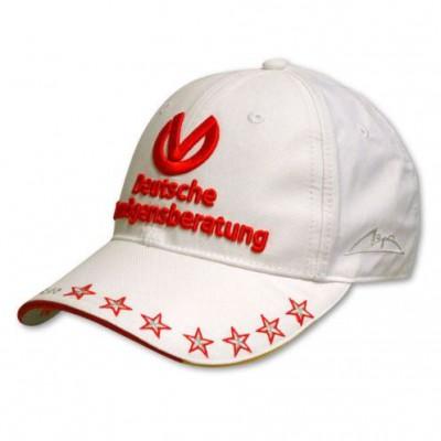 *Летняя мужская кепка Michael Schumacher DVAG (белая)