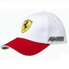 "Спортивная бейсболка Ferrari ""3 colored"" (белая)"