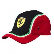 """Спортивная бейсболка Ferrari """"Italian"""" (черно-красная)"""