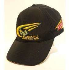 *Зимняя мужская кепка Subaru (с ушками) чёрная