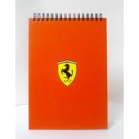 Подарочный блокнот Ferrari на пружине