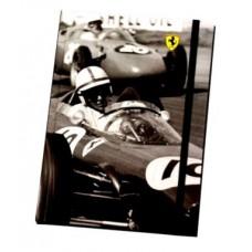 Записная книжка Ferrari A5 в подарочной упаковке на резинке,  Ferrari Ofice Retro-Collection