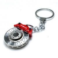*Оригинальный брелок (тормозной диск и суппорт) Porsche, красный