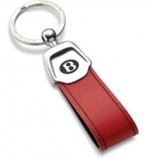 Красный кожаный брелок для ключей Bentley